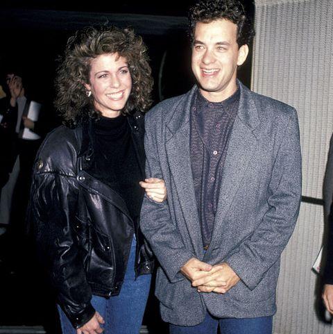 rita wilson and tom hanks - three amigos premiere 1986