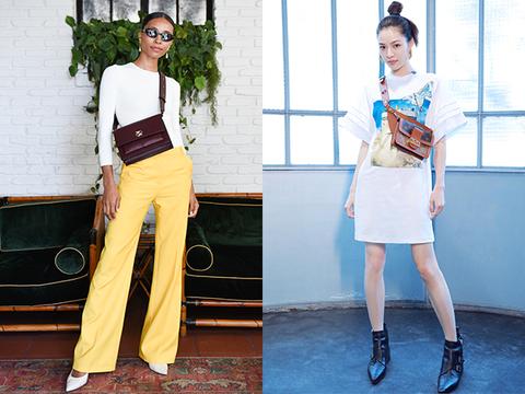 Clothing, White, Street fashion, Yellow, Fashion, Waist, Shoulder, Footwear, Crop top, Leg,