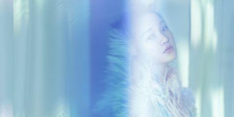 Blue, Skin, Beauty, Purple, Eye, Portrait, Electric blue, Long hair, Iris, Photography,