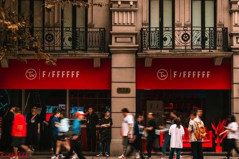 Red, Street, Metropolitan area, Pedestrian, Architecture, Urban area, Infrastructure, Design, City, Building,