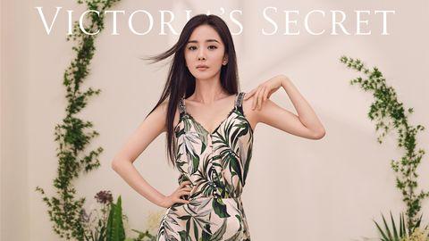 victoria's secret,vs,sexy comfort,维多利亚的秘密,文胸,内衣,杨幂,何穗,美肩,美背,低调,优雅