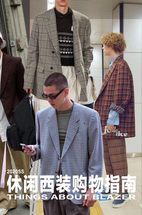 Clothing, Outerwear, Fashion, Suit, Plaid, Street fashion, Blazer, Jacket, Pattern, Design,
