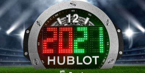 hublot宇舶表2020 2021赛季英超联赛第四官员补时换员牌