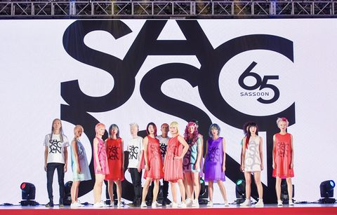 Fashion, Beauty, Performance, Event, Stage, Font, Fashion design, Dress, Carpet, Talent show,