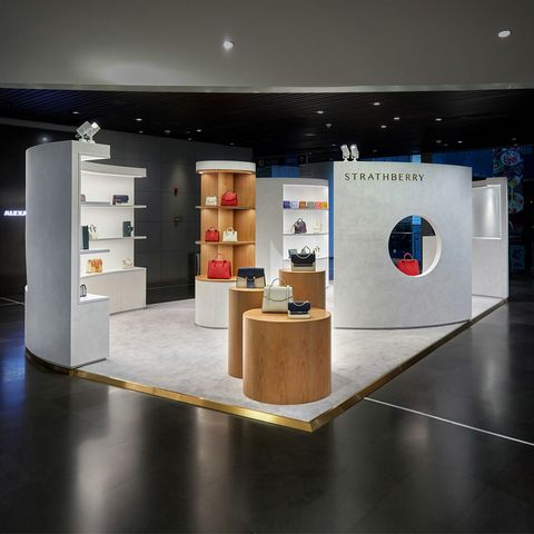 Display case, Interior design, Exhibition, Building, Design, Floor, Flooring, Architecture, Furniture,