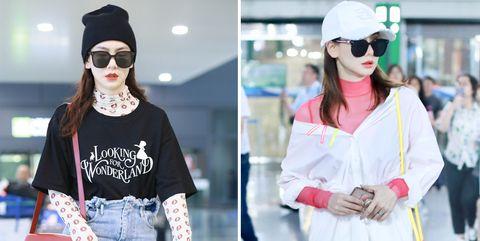 Clothing, Beanie, Street fashion, Eyewear, Knit cap, Fashion, Cap, Pink, Cool, Shoulder,