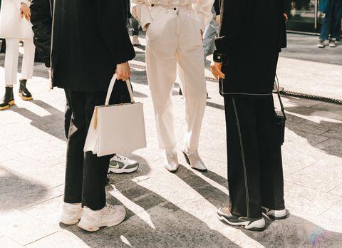 White, People, Street fashion, Fashion, Snapshot, Outerwear, Photography, Fashion design, Street, Fashion accessory,