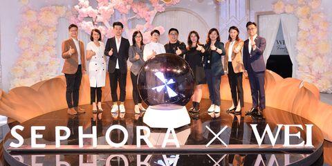 嘉宾及高层共同见证wei蔚蓝之美明王朝系列新品上市