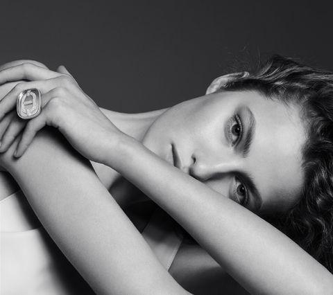 Face, Black, Photograph, Skin, Black-and-white, Beauty, Lip, Arm, Monochrome, Hand,