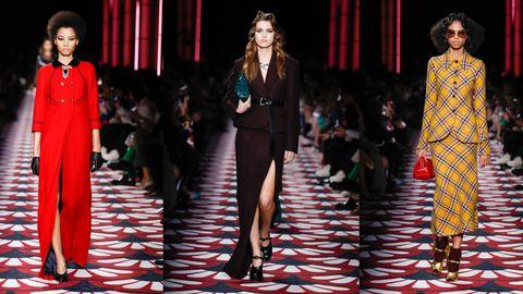 Fashion model, Fashion, Runway, Fashion show, Clothing, Fashion design, Haute couture, Event, Public event, Dress,