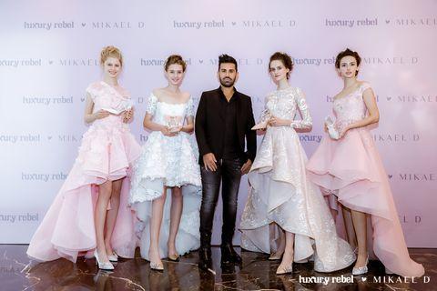 Fashion, Skin, Beauty, Dress, Event, Formal wear, Human, Fashion design, Wedding dress, Happy,