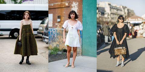 Clothing, Photograph, White, Street fashion, Dress, Fashion, Shoulder, Footwear, Snapshot, Fashion model,