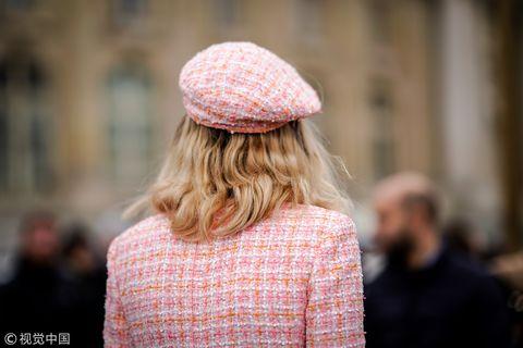 Clothing, Fashion, Street fashion, Pink, Beanie, Headgear, Knit cap, Hat, Fashion accessory, Cap,