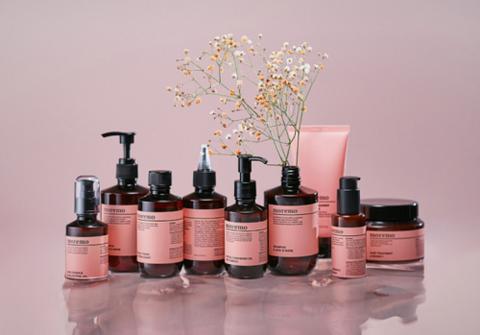 Product, Liquid, Pink, Bottle, Peach, Material property, Glass bottle, Cosmetics, Still life, Fluid,