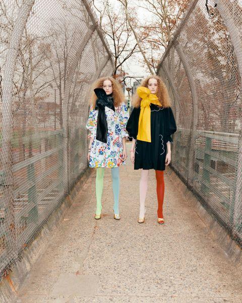 Photograph, Yellow, Snapshot, Fashion, Street fashion, Tree, Spring, Leaf, Photography, Plant,