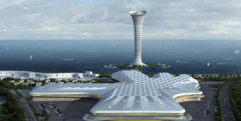 Tower, Landmark, Artificial island, Architecture, Control tower, Observation tower, Skyscraper, Building, Urban design, Tower block,