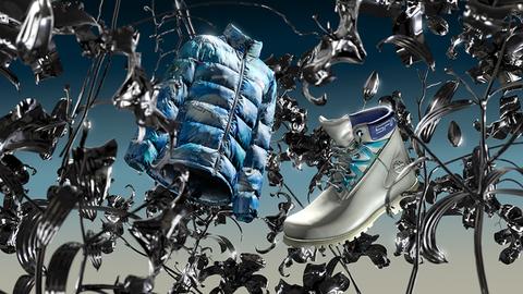 Blue, Water, Graphic design, Design, Illustration, Organism, Cg artwork, Footwear, Electric blue, Architecture,