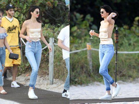Jeans, Denim, Clothing, Jogging, Footwear, Fashion, Walking, Trousers, Leg, Street fashion,