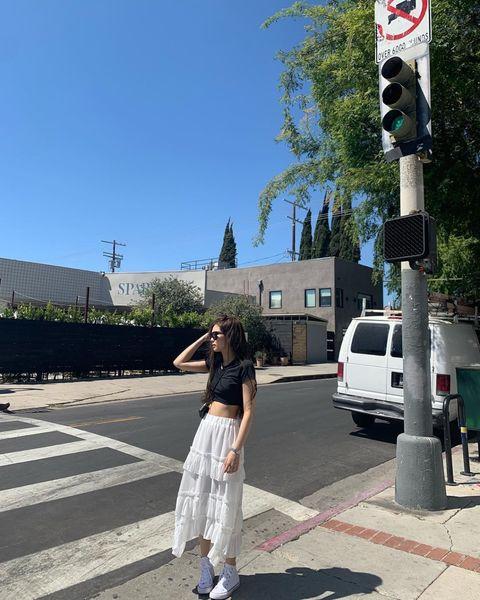 Photograph, White, Road, Pedestrian, Pedestrian crossing, Snapshot, Street, Street fashion, Infrastructure, Fashion,