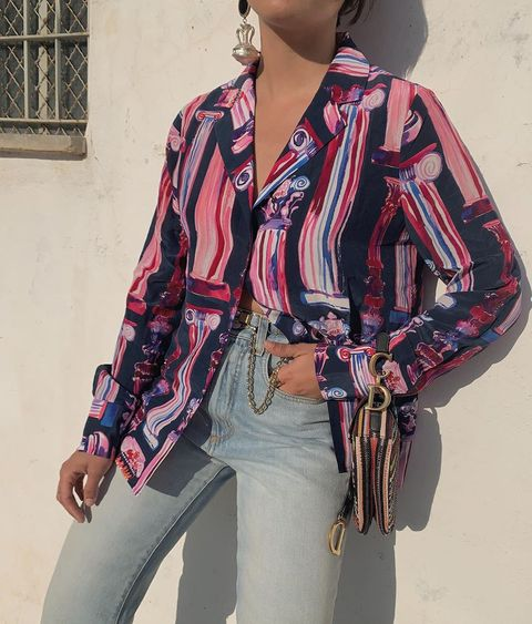 Clothing, Fashion, Outerwear, Sleeve, Blouse, Waist, Pattern, Costume, Textile, Fashion accessory,