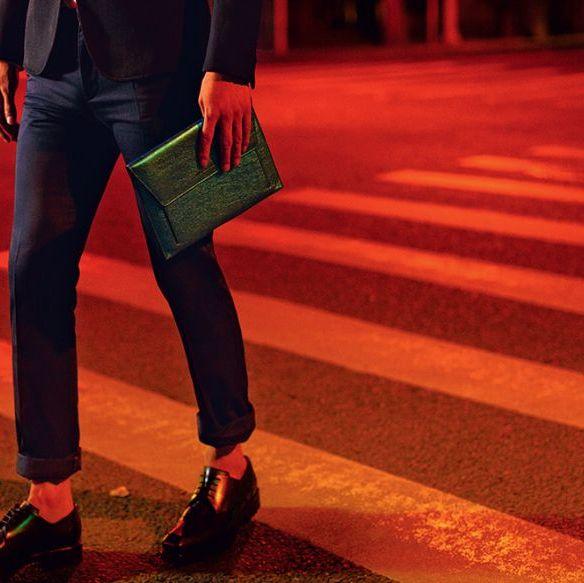 Clothing, Footwear, Leg, Trousers, Human leg, Denim, Textile, Red, Jeans, Outerwear,