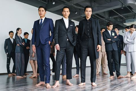 Suit, Formal wear, White-collar worker, Event, Businessperson, Uniform, Team, Tuxedo, Management, Company,