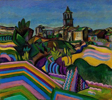 Painting, Modern art, Art, Visual arts, Acrylic paint, Landscape, Watercolor paint, Plant, Artwork, Mural,