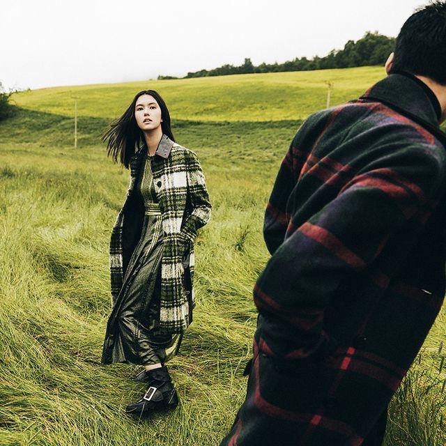 Plaid, Grass, Tartan, Pattern, Grassland, Outerwear, Design, Grass family, Tree, Photography,