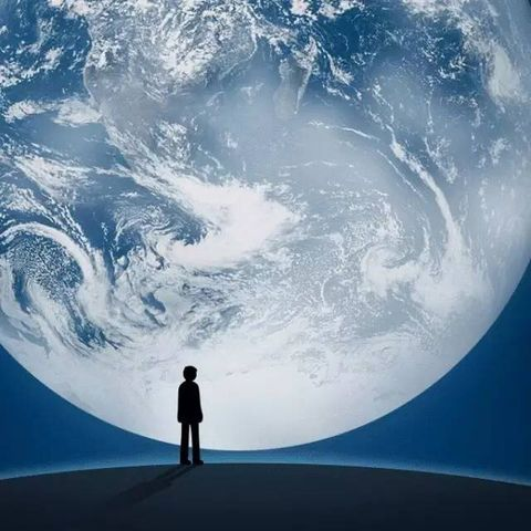 Earth, Sky, World, Atmosphere, Space, Astronomical object, Wind wave, Wave, Illustration, Planet,