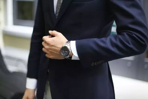 Suit, Blazer, Clothing, Formal wear, Outerwear, Tuxedo, Street fashion, Finger, Jacket, Hand,
