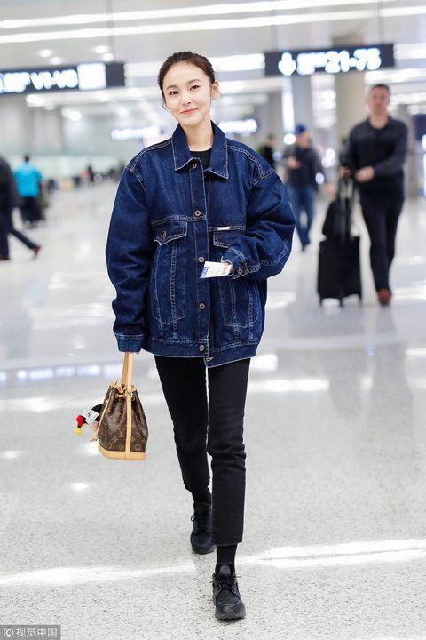 Clothing, Photograph, Street fashion, Blue, Jeans, Denim, Snapshot, Fashion, Standing, Outerwear,