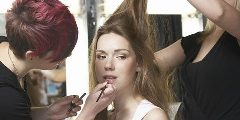 Hair, Hairstyle, Beauty, Makeup artist, Hair coloring, Long hair, Blond, Step cutting, Human, Makeover,