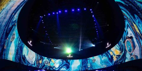 Blue, Light, Lighting, Ceiling, Architecture, Night, Glass, Electric blue, Circle, World,