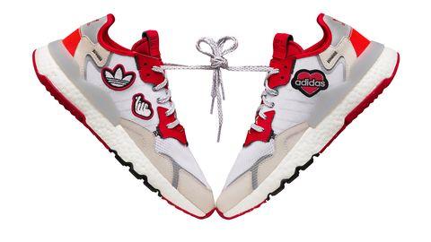 adidas,originals,阿迪达斯,鞋履,运动,七夕,魔术贴,桃心,街头风