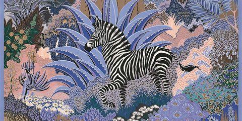 Pattern, Organism, Textile, Art, Zebra, Tapestry, Wildlife, Printmaking,