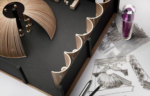 Illustration, Table, Interior design,