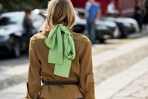 Street fashion, Clothing, Coat, Fashion, Outerwear, Trench coat, Snapshot, Khaki, Blond, Jacket,