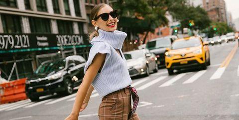 Street fashion, Photograph, Clothing, Jeans, Fashion, Waist, Snapshot, Beauty, Footwear, Brown,