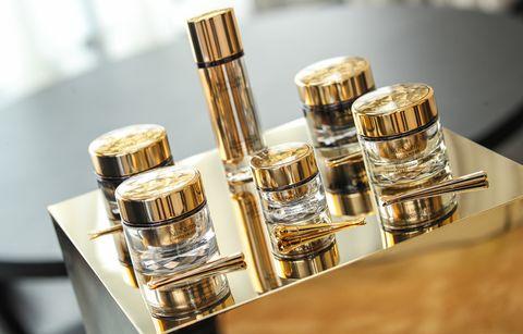 Product, Perfume, Cosmetics, Metal,