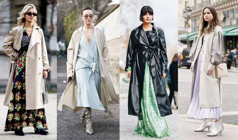 Clothing, Fashion model, Street fashion, Fashion, Outerwear, Dress, Overcoat, Fashion design, Formal wear, Coat,