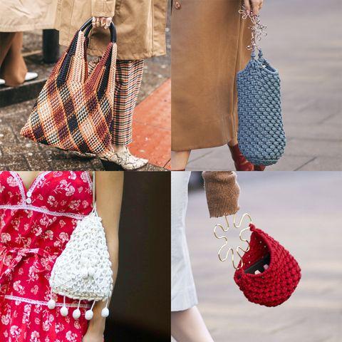 Shoulder, Clothing, Red, Bag, Fashion, Handbag, Joint, Street fashion, Pattern, Fashion accessory,