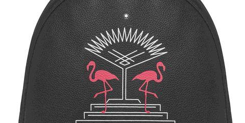 Flamingo, Clothing, Bird, Water bird, Cap, Flightless bird, Illustration, T-shirt, Sleeve,
