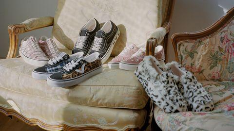 Footwear, Shoe, White, Pink, Room, Sneakers, Still life, Interior design, Comfort, Athletic shoe,