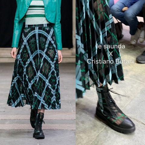 Clothing, Tartan, Green, Street fashion, Pattern, Plaid, Footwear, Fashion, Design, Outerwear,