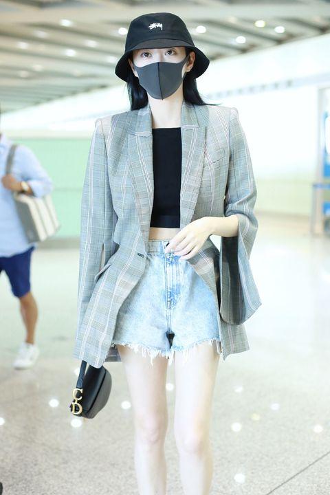 Clothing, Street fashion, White, Fashion, Denim, Blue, Shorts, Outerwear, Snapshot, Jeans,