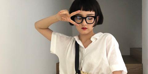 Shoulder, White, Eyewear, Waist, Clothing, Bag, Joint, Fashion, Yellow, Cool,