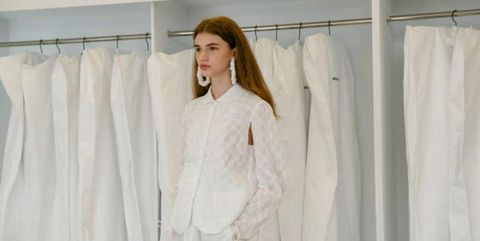 White, Clothing, Dress, Shoulder, Gown, Fashion, Fashion design, Outerwear, Room, Linens,