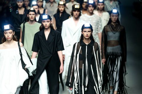 Fashion, Runway, Event, Fashion design, Fashion model, Headgear, Fashion show, Outerwear, Haute couture, Performance,