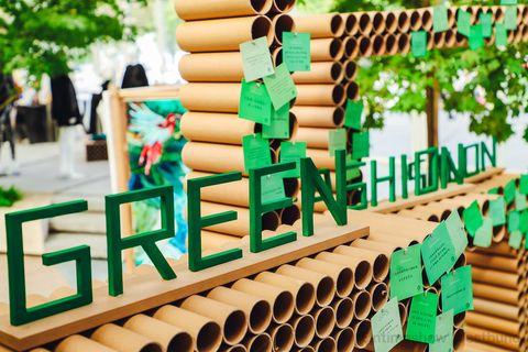 green fashion salon
