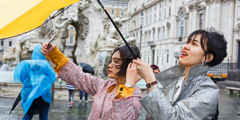 Umbrella, People, Street fashion, Photography, Travel, Fashion accessory, Street performance, Street artist, Tourism,